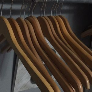 Other - 12 wooden hangers-Make your closet beautiful!!